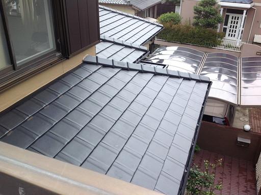 平瓦に黒樋で、重厚感のある屋根に /宇美町