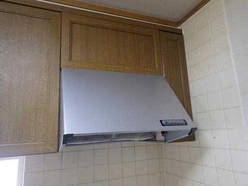 台所の換気扇を交換 /須恵町