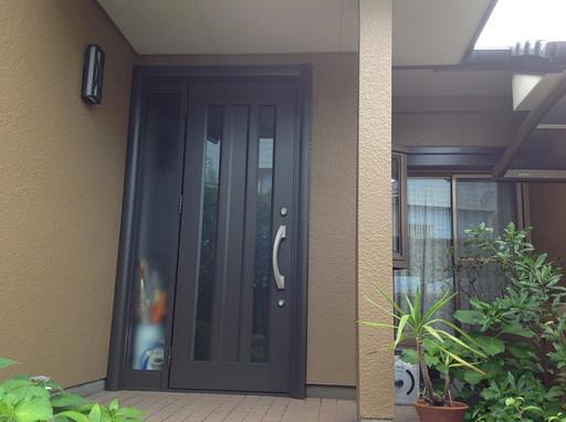 防犯ガラスを使用した玄関リフォーム /宇美町