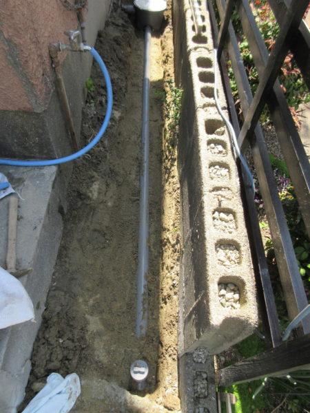 詰まった排水管を取替 /志免町