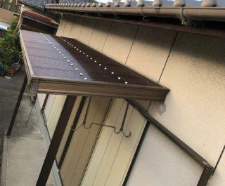 古くなったテラスの屋根波板を新しく張替 /粕屋