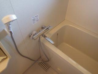 浴室 シャワー付水栓の交換 /粕屋町