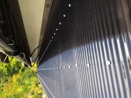 テラスの屋根と壁 波板をポリカーボネートへ張替 /福岡市